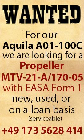 Aquila Prop Wanted