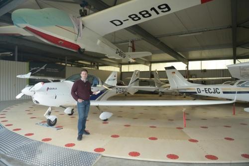 Flugzeug-Drehteller /Nachrüsten für bestehenden Hangar
