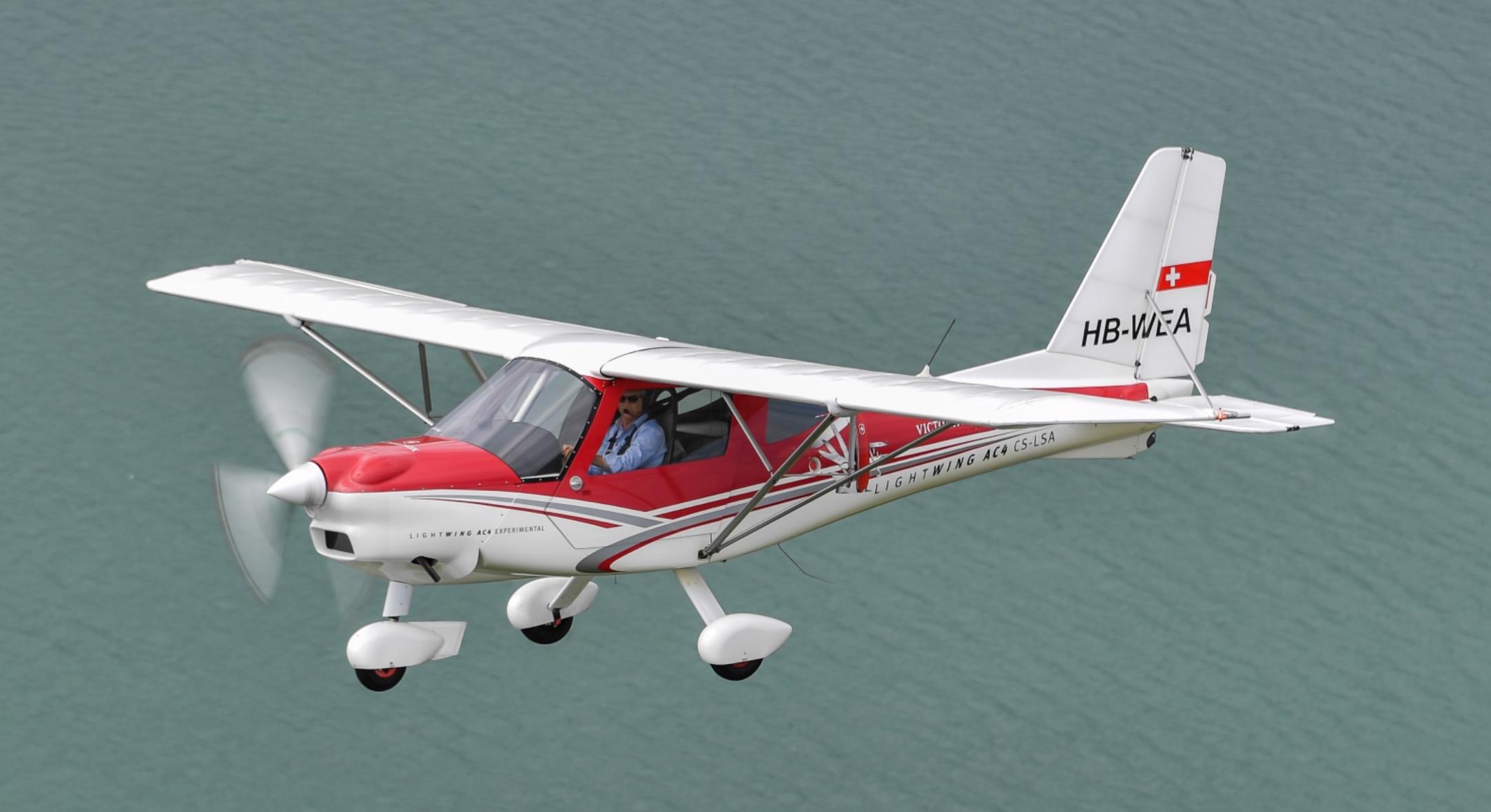 Swiss aircraft manufacturers go on a demo tour - LIGHTWING AC4CS-LSA